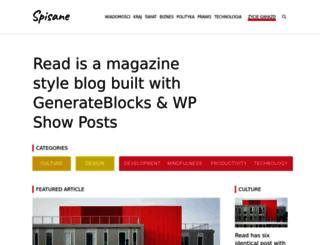 spisane.pl screenshot