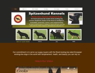 spitzenhundkennels.com screenshot