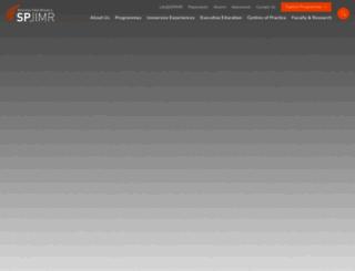spjimr.org screenshot