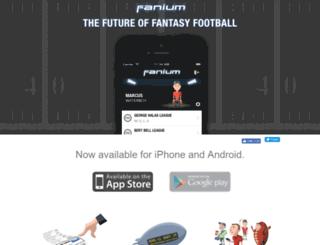 splash.fanium.com screenshot
