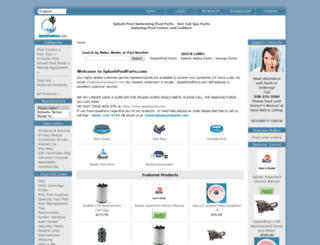 splashpoolparts.com screenshot