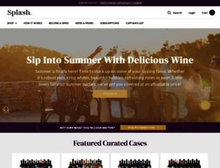 splashwines.com screenshot