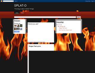 splat-o.blogspot.com screenshot