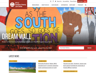 splcenter.org screenshot