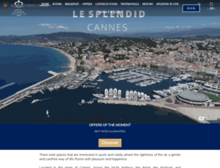 splendid-hotel-cannes.fr screenshot