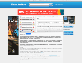 spletni-slovar.com screenshot