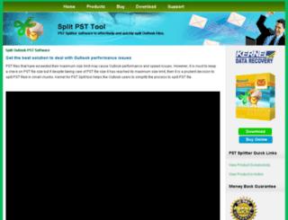 splitpsttool.com screenshot