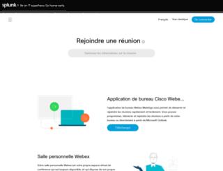 splunk-fr.webex.com screenshot