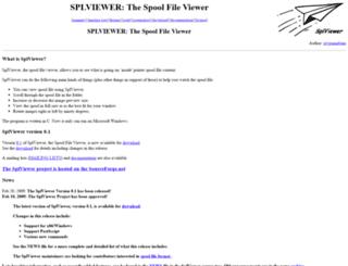 splviewer.sourceforge.net screenshot