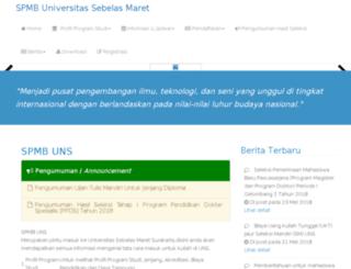 spmb1.uns.ac.id screenshot