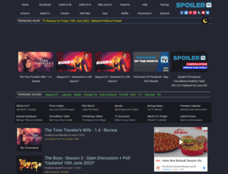 spoilertv.com screenshot