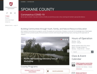 spokane-county.wsu.edu screenshot