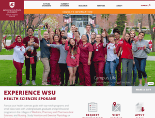 spokane.wsu.edu screenshot