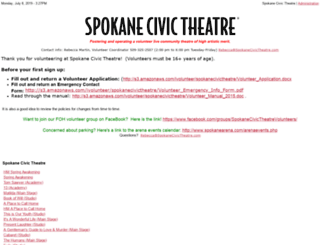 spokanecivictheatre.ivolunteer.com screenshot