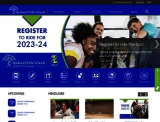 spokaneschools.org screenshot