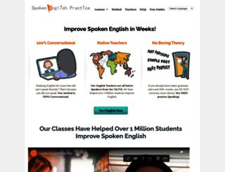 spokenenglishpractice.com screenshot