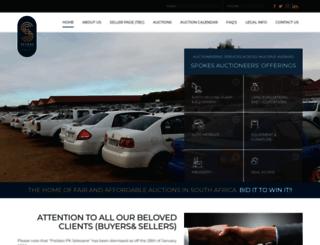 spokesauctioneers.co.za screenshot