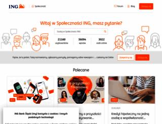 spolecznosc.ingbank.pl screenshot