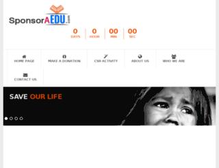 sponsoraedu.com screenshot