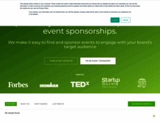 sponsormyevent.com screenshot