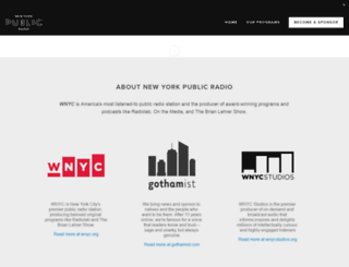 sponsorship.wnyc.org screenshot