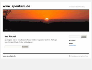 spontani.de screenshot