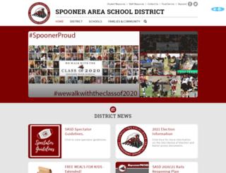 spooner.k12.wi.us screenshot