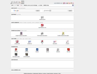 sport.klikklik.co.uk screenshot