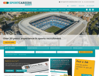 sportcareers.co.uk screenshot
