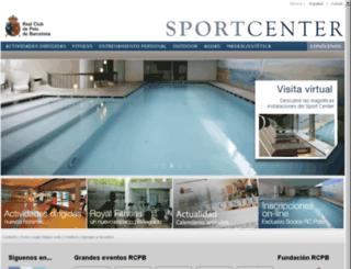 sportcenter.rcpolo.com screenshot