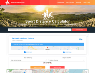 sportdistancecalculator.com screenshot