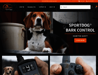 sportdog.com screenshot