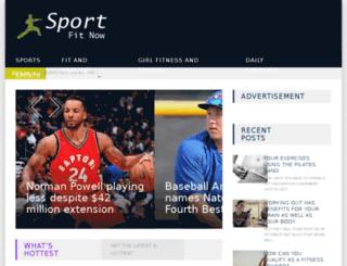 sportfitnow.com screenshot