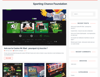 sportingchancefoundation.org screenshot