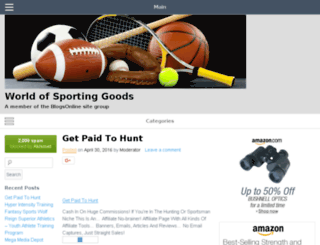 sportinggoods.blogsonline.net screenshot