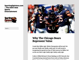 sportingopinions.com screenshot