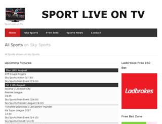 sportliveontv.co.uk screenshot