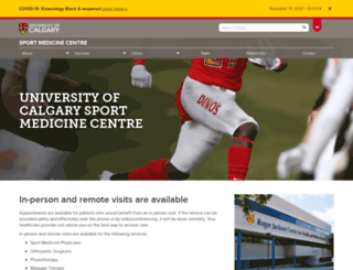 sportmed.ucalgary.ca screenshot