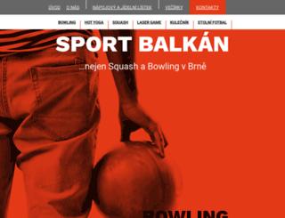 sportparkbalkan.cz screenshot