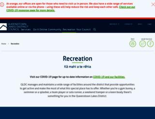 sportrec.qldc.govt.nz screenshot