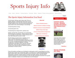 sports-injury-info.com screenshot