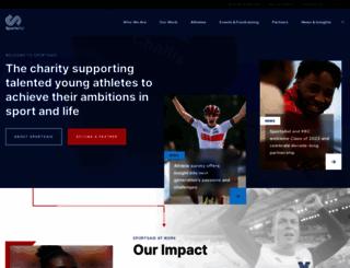 sportsaid.org.uk screenshot