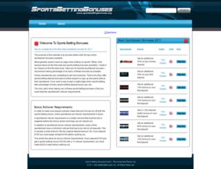 sportsbettingbonuses.org screenshot