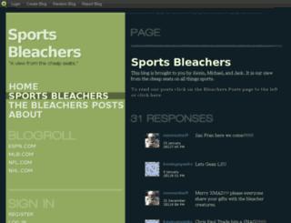 sportsbleachers.blog.com screenshot
