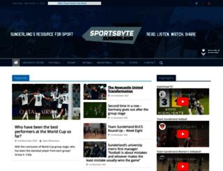 sportsbyte.sunderland.ac.uk screenshot