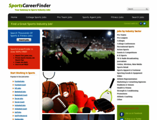 sportscareerfinder.com screenshot