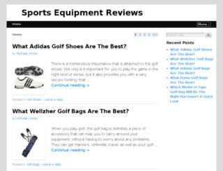 sportsequipmentreviews.net screenshot