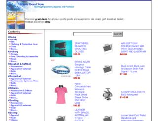 sportsgoodstore.com screenshot