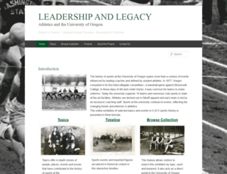 sportshistory.uoregon.edu screenshot