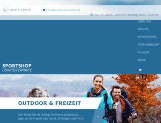 sportshop-zwoenitz.de screenshot